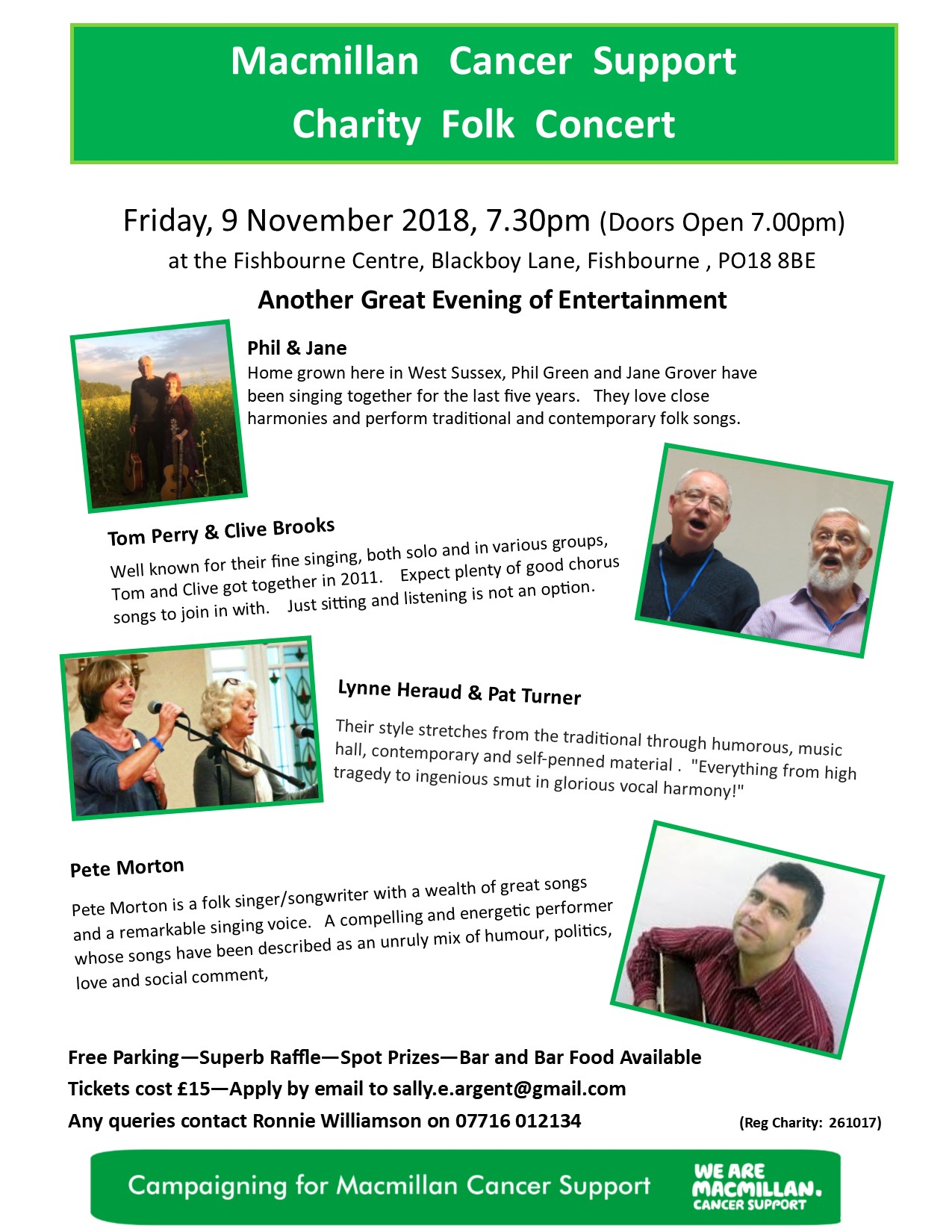 Macmillan Charity Folk Concert