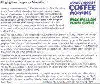 Macmillan Coffee Morning Poster