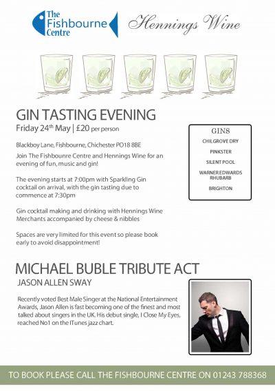 Gin tasting poster Feb 2019