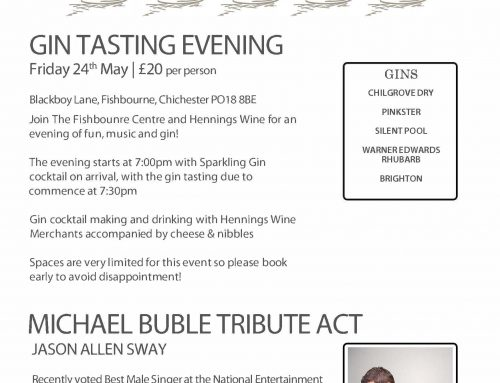 24th May – Gin Tasting Evening