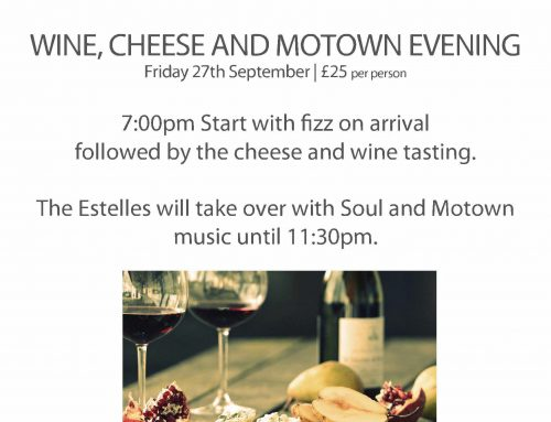 27th September – Cheese & Wine Tasting Evening