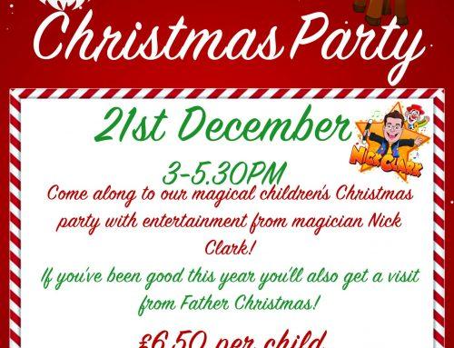 Children's Christmas Party – 21st December